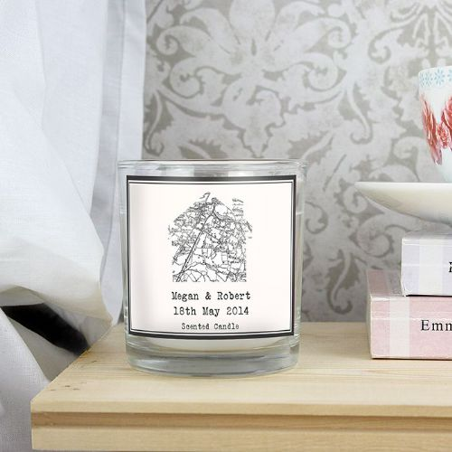 Personalised Old Series Map Home Scented Jar Candle